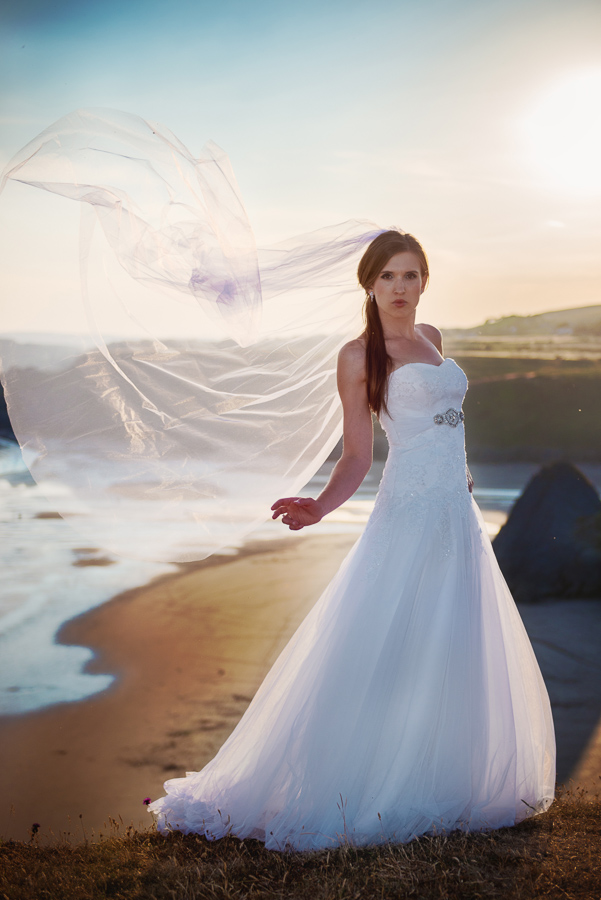 BRIDAL OUTDOOR SESSION - THREE CLIFFS BAY, GOWER, SWANSEA WEDDING PHOTOGRAPHER- Wedding photographers south wales, -1