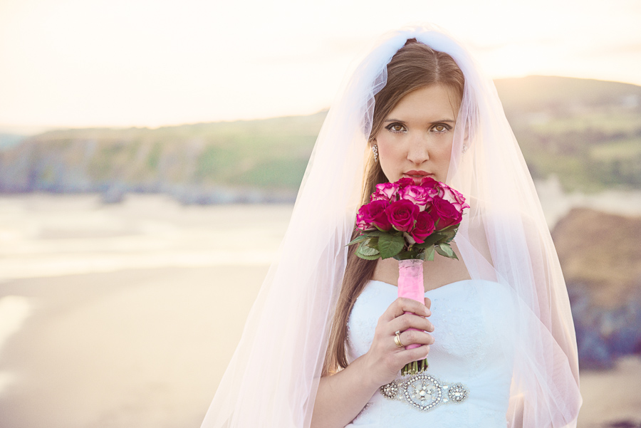 BRIDAL OUTDOOR SESSION - THREE CLIFFS BAY, GOWER, SWANSEA WEDDING PHOTOGRAPHER- Wedding photographers south wales, -10