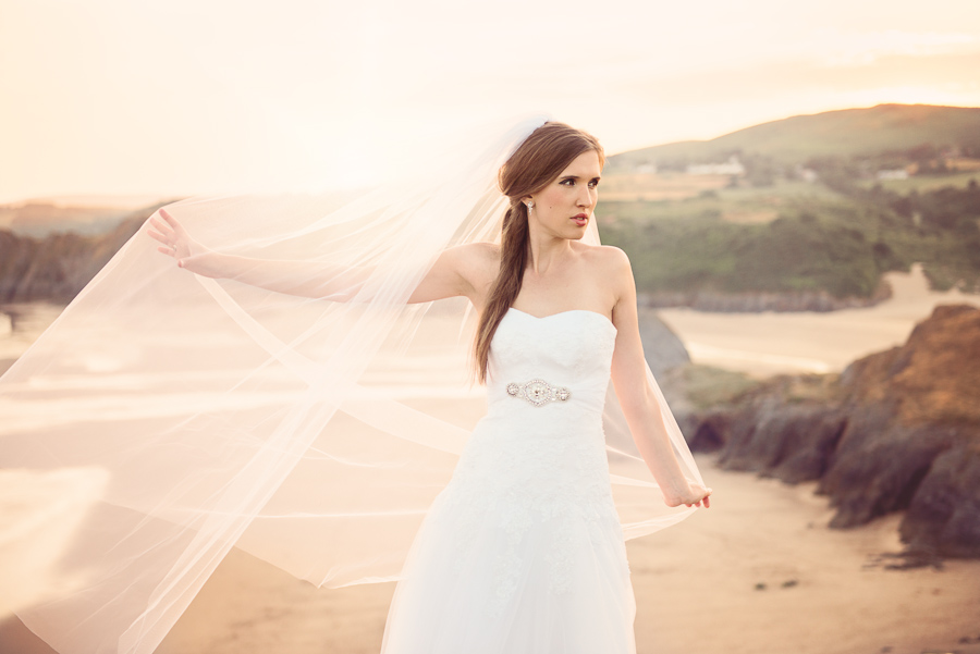 BRIDAL OUTDOOR SESSION - THREE CLIFFS BAY, GOWER, SWANSEA WEDDING PHOTOGRAPHER- Wedding photographers south wales, -11